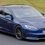 Tesla Model S Plaid з активною аеродинамікою зняли на тестах (Фото)